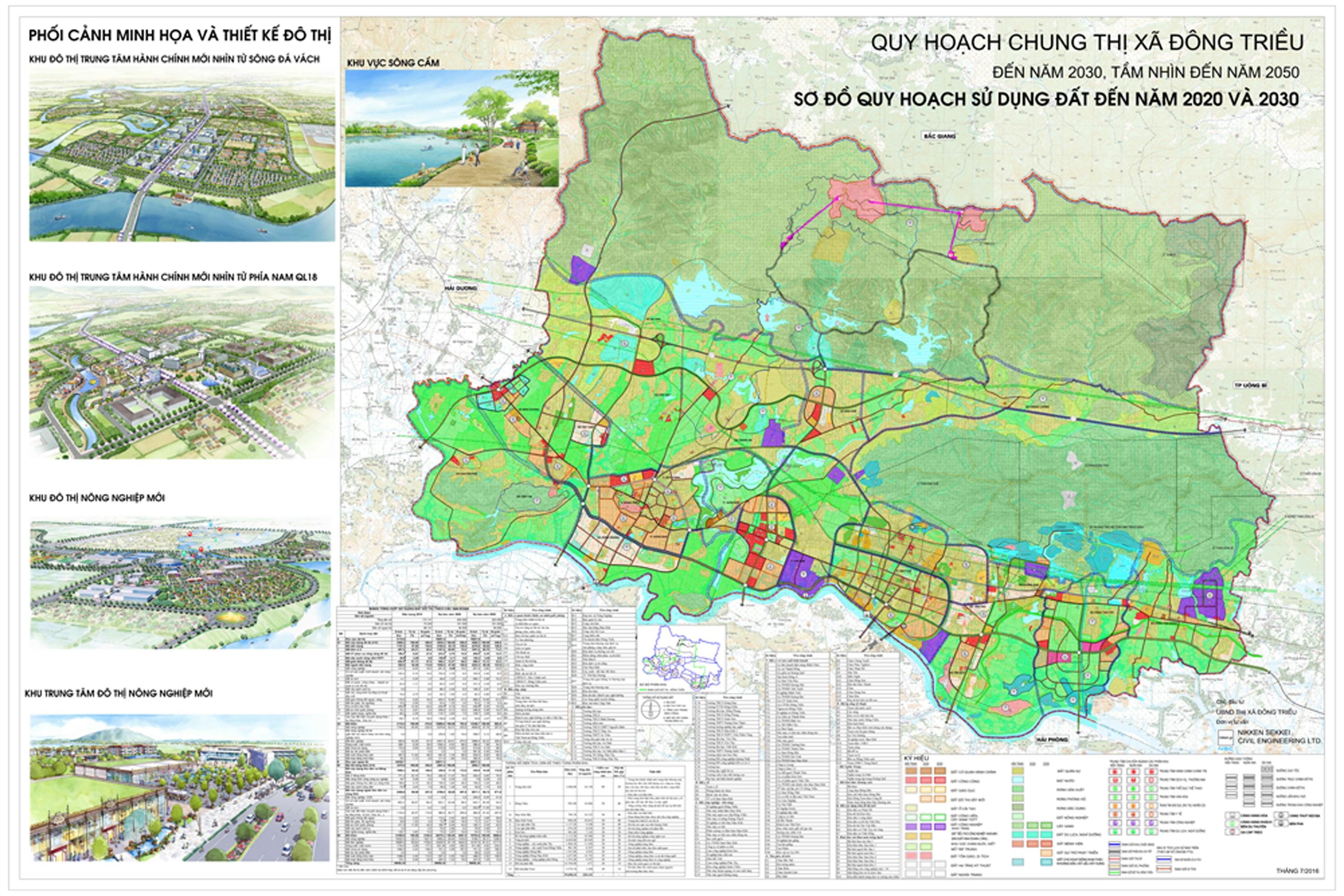 GENERAL PLANNING FOR CONSTRUCTION OF DONG TRIEU TOWN, QUANG NINH PROVINCE, TILL 2030 VISION TO 2050